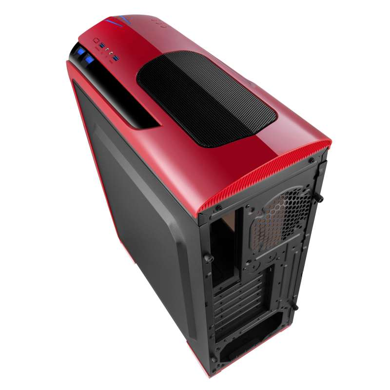 Gabinete Gamer Isolatic X2-6020R-CE/R-2U3 Red Mid Tower S/Fonte