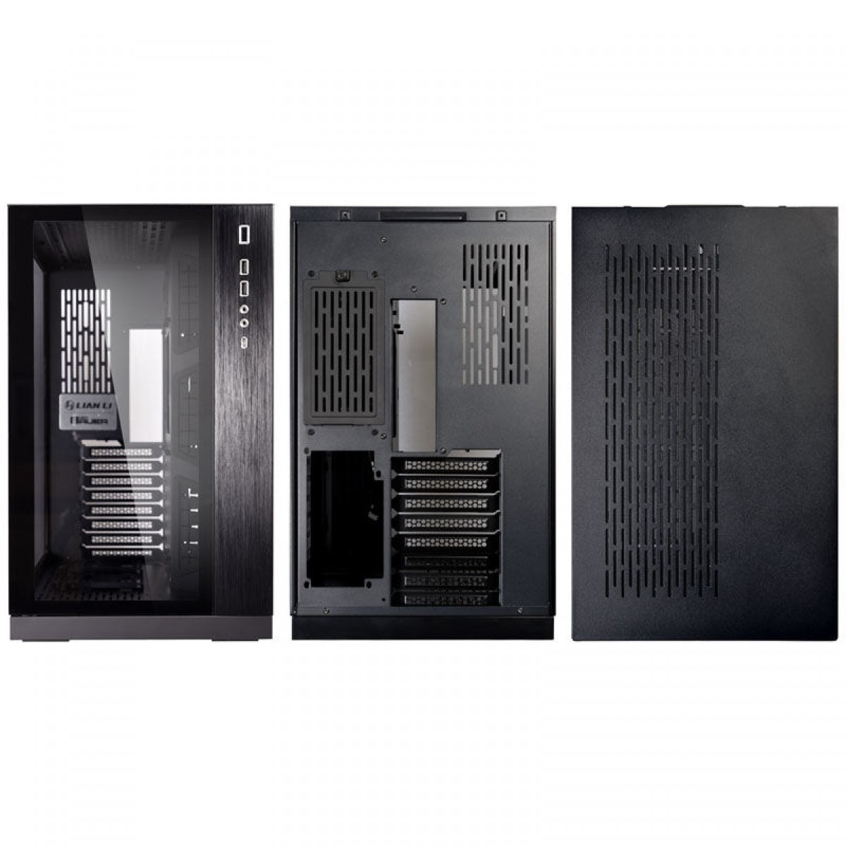 Gabinete Gamer Lian Li Dynamic, Mid Tower, S-Fan, Vidro Temperado, Black, S-Fonte, PC-O11DX