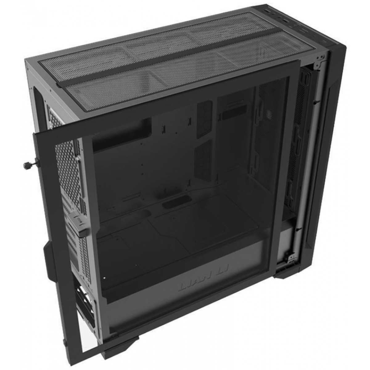 Gabinete Gamer Lian Li Lancool One Digital, Mid Tower, Vidro Temperado, Black, Sem Fonte, Sem Fan