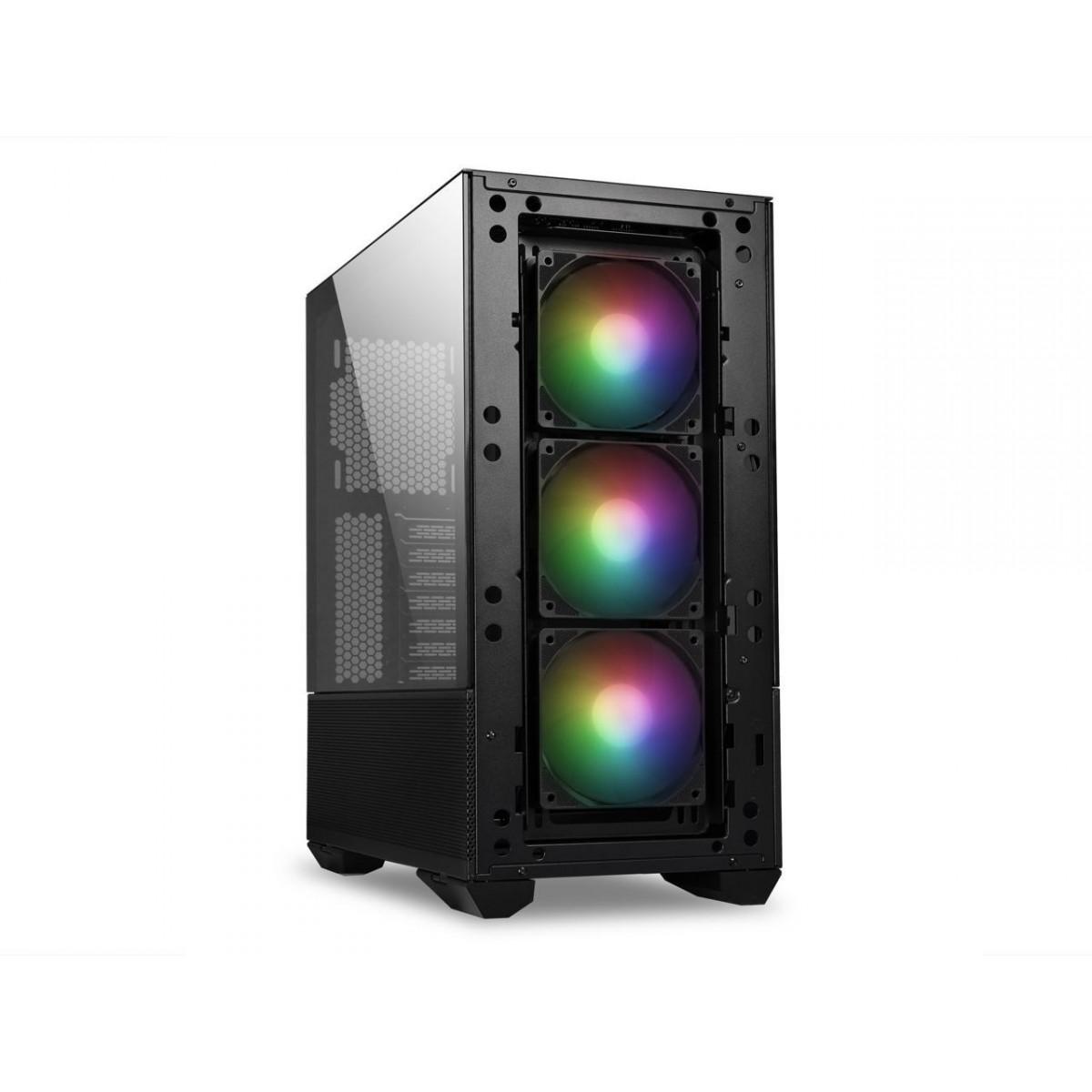 Gabinete Gamer Lian Li, Lancool II Mesh RGB, Mid Tower, Vidro Temperado, Black, Sem Fonte, Com 3 Fans