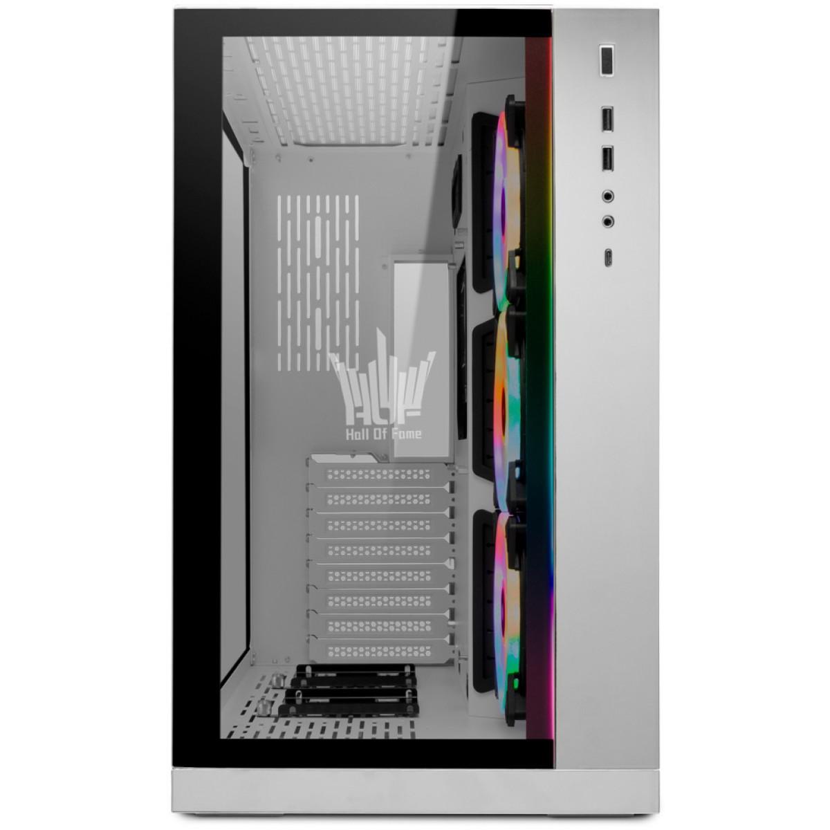 Gabinete Gamer Lian Li O11 Dynamic HOF, Mid Tower, Vidro Temperado, White, S-Fonte