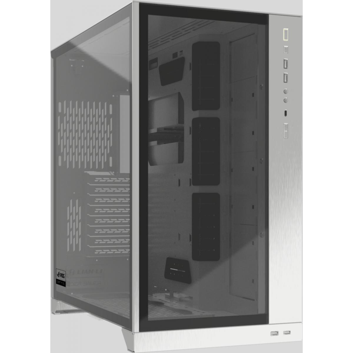 Gabinete Gamer Lian Li O11 Dynamic XL, Full Tower, Vidro Temperado, White, Sem Fonte, Sem fan, O11DXL-W