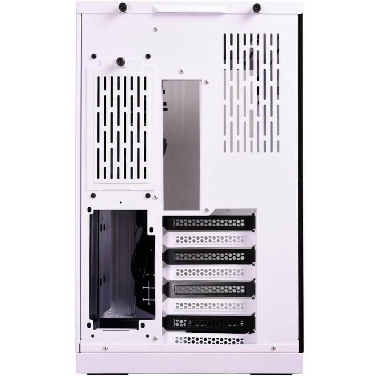 Gabinete Gamer Lian Li Dynamic, Mid Tower, Vidro Temperado, White, Sem Fonte, Sem Fan, PC-O11DX