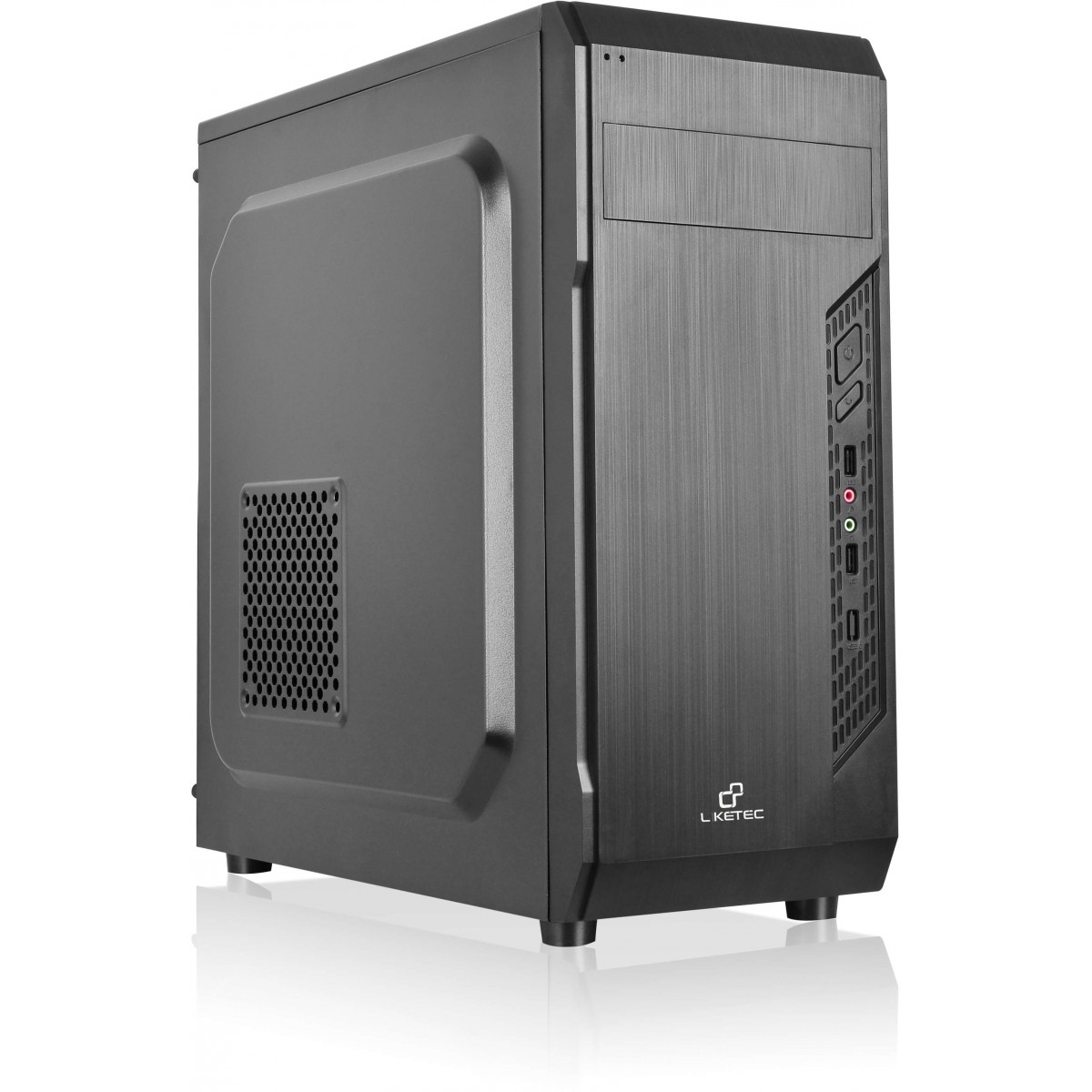 Gabinete Gamer liketec Office 951, Mid Tower, Black, Sem Fonte, Sem Fan