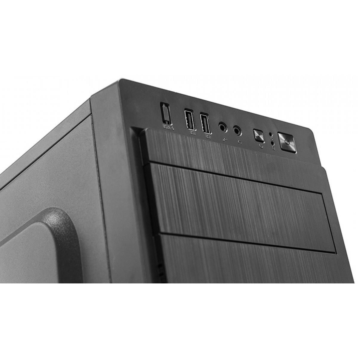 Gabinete Gamer liketec Office 950, Mid Tower, Black, Sem Fonte, Sem Fan