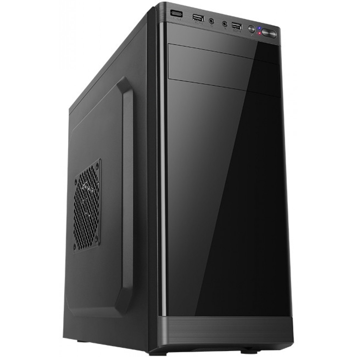 Gabinete Gamer Liketec Office Elite, Mid Tower, Black, Sem Fonte, Sem Fan