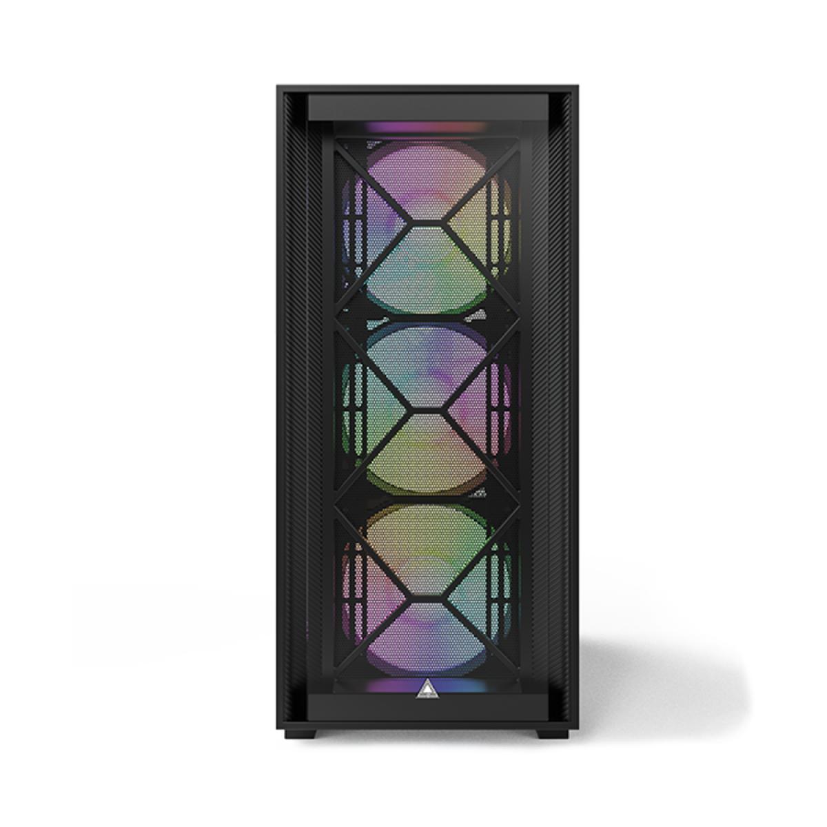 Gabinete Gamer Montech Air 1000 PREMIUM, Mid Tower, RGB, Vidro Temperado, Black, ATX, Sem Fonte, Com 4 Fans