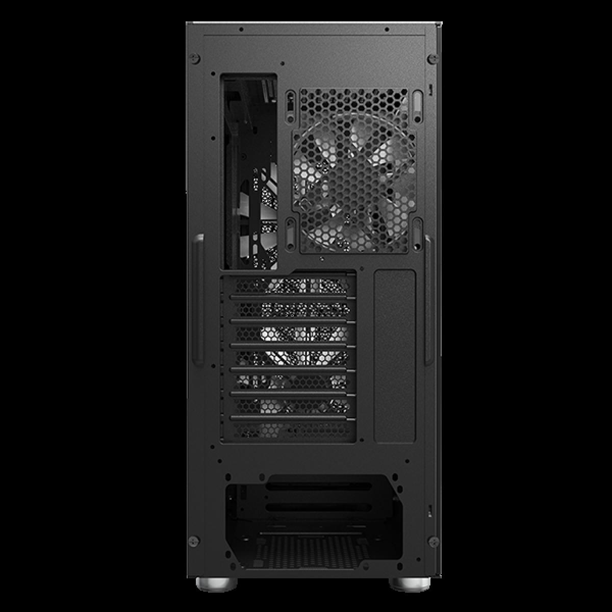 Gabinete Gamer Montech Air X ARGB, Mid Tower, Vidro Temperado, BLACK, E-ATX, Sem Fonte, Com 3 Fans ARGB