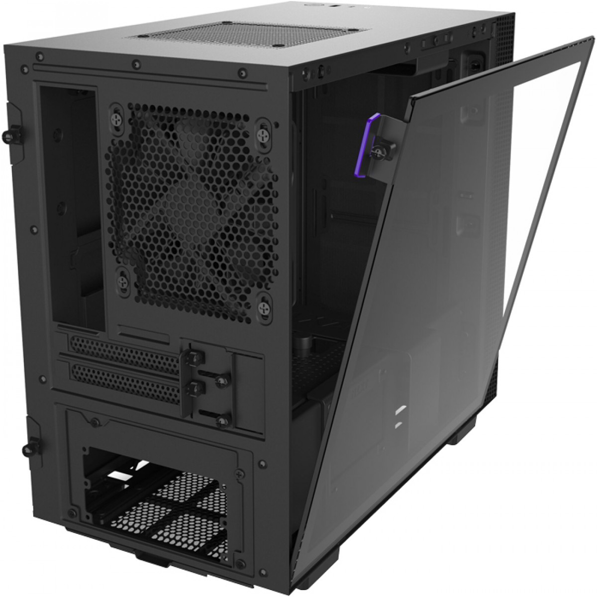 Gabinete Gamer NZXT H210i, Mini Tower, Vidro Temperado, Black, Sem Fonte, Com 2 Fans, CA-H210I-B1 - Open Box