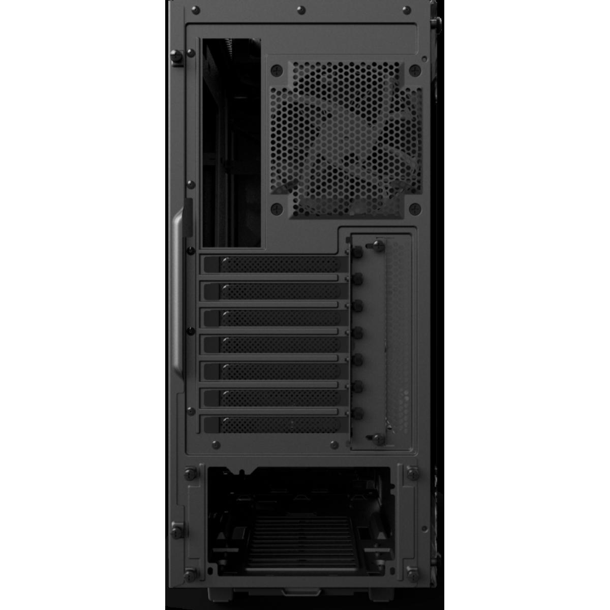 Gabinete Gamer NZXT S340 Elite, Mid Tower, Com 2 Fans, Vidro Temperado, Black, Sem Fonte, CA-S340W-B3