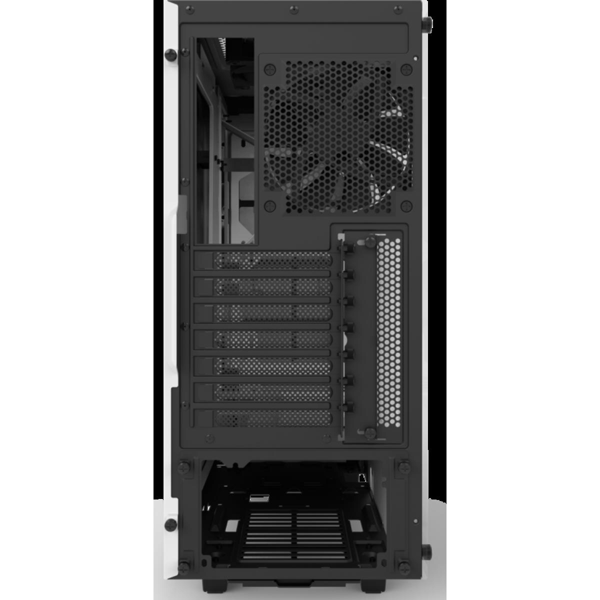 Gabinete Gamer NZXT S340 Elite, Mid Tower, Com 2 Fans, Vidro Temperado, White, Sem Fonte, CA-S340W-W2