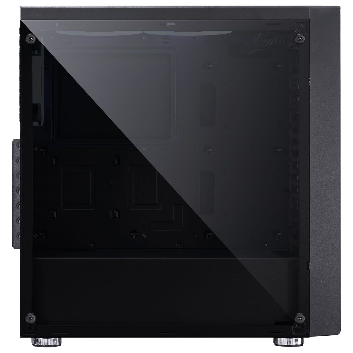 Gabinete Gamer PCyes Polaris, Mid Tower, Vidro Temperado, Black, PLPTRGB3FV, Sem Fonte, Com 3 Fans RGB