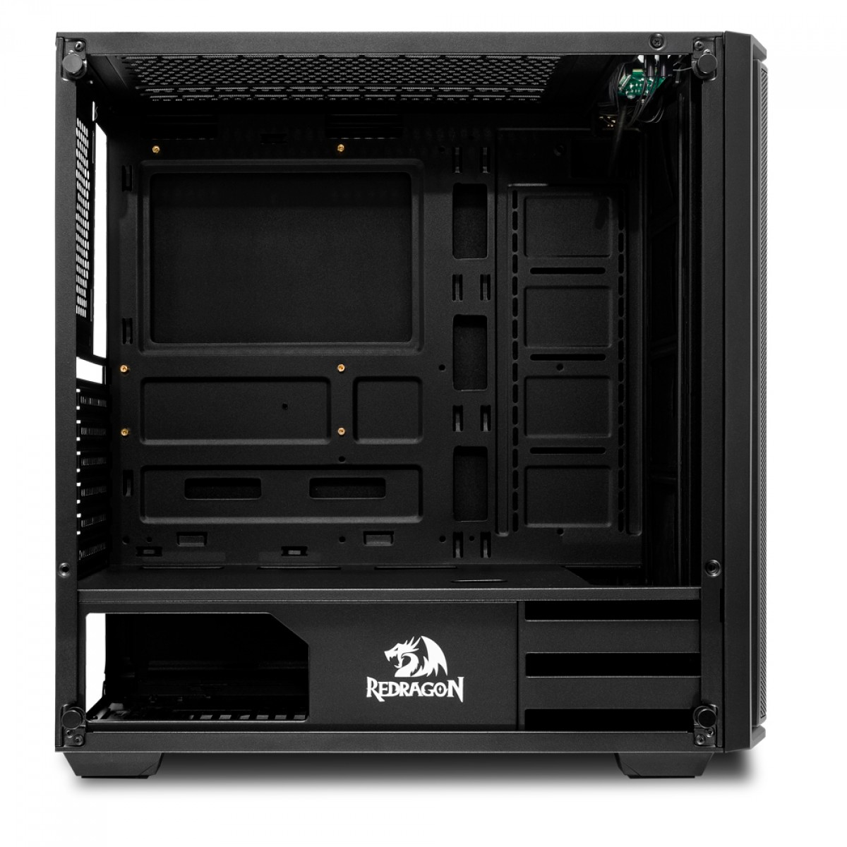 Gabinete Gamer Redragon Ramhorn, Mid Tower, S-Fan, Vidro Temperado, Black, Sem fonte