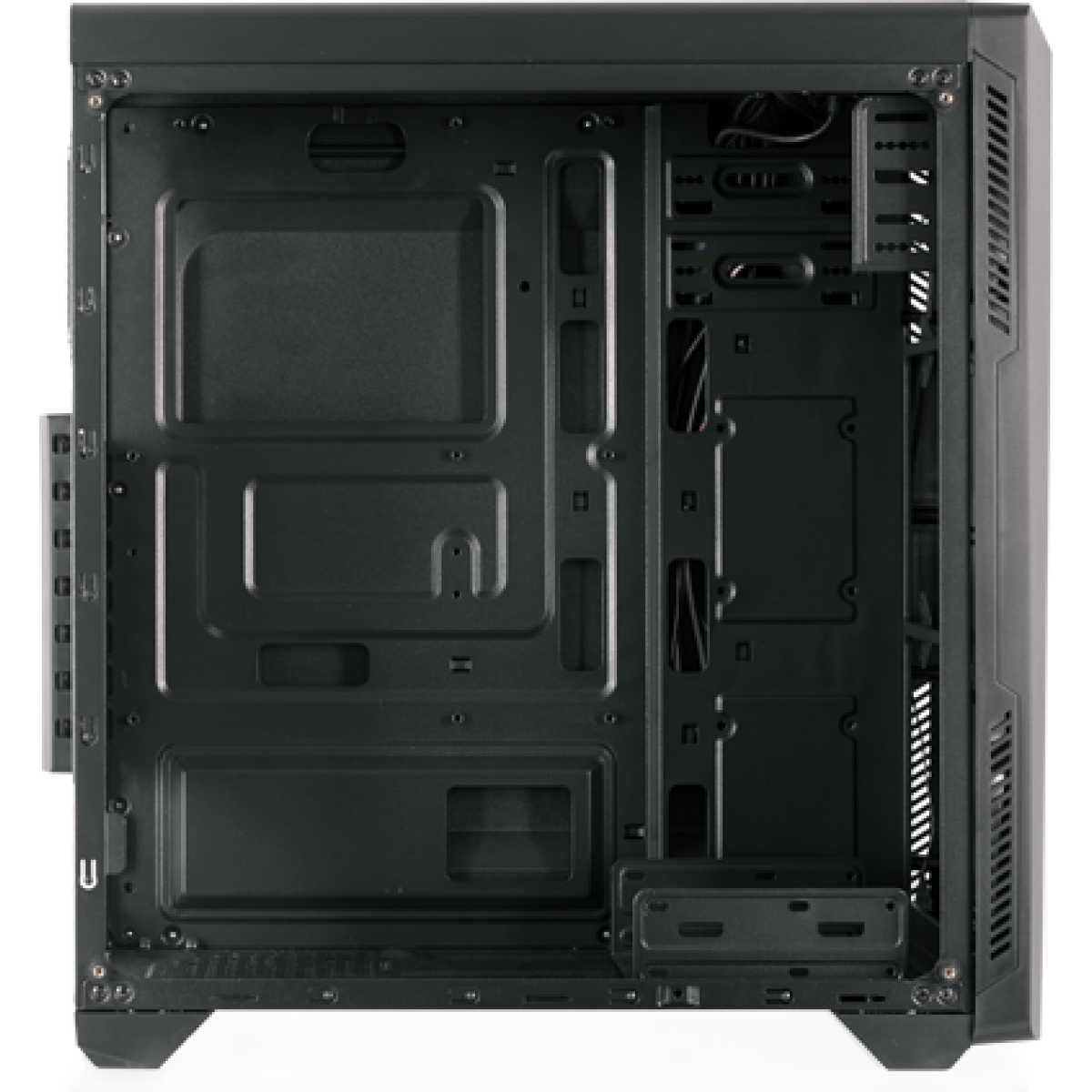 Gabinete Gamer Riotoro, Mid Tower, Vidro Temperado, Black, Sem Fonte, Com 1 Fan, CR-100TG RGB