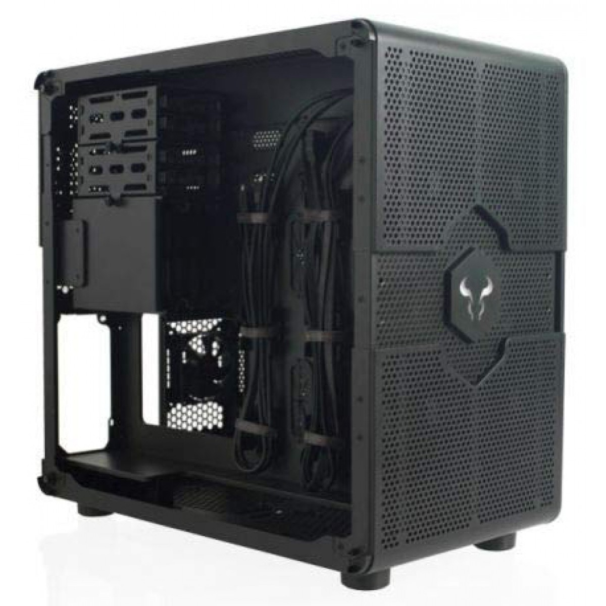 Gabinete Gamer Riotoro Morpheus, Mini/Mid Tower, Com 3 Fans, Black, S-Fonte, GPX100 - Open Box