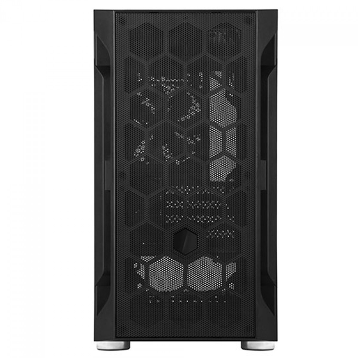 Gabinete Gamer SilverStone Fara H1M, Mini Tower, Vidro Temperado, Black, Micro-ATX, Sem Fonte, Com 1 Fan, SST-FAH1MB-G