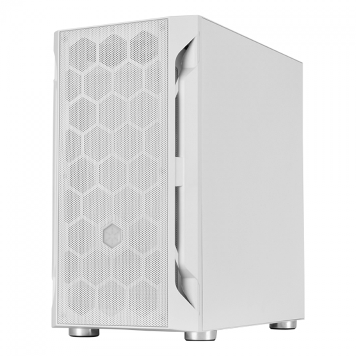 Gabinete Gamer SilverStone Fara H1M, Mini Tower, Vidro Temperado, White, Micro-ATX, Sem Fonte, Com 1 Fan, SST-FAH1MW-G