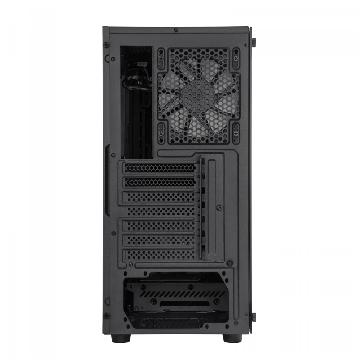 Gabinete Gamer SilverStone Fara R1 Pro, Mid Tower, Vidro Temperado, Black, Sem fonte, Com 4 Fans, SST-FAR1B-PRO