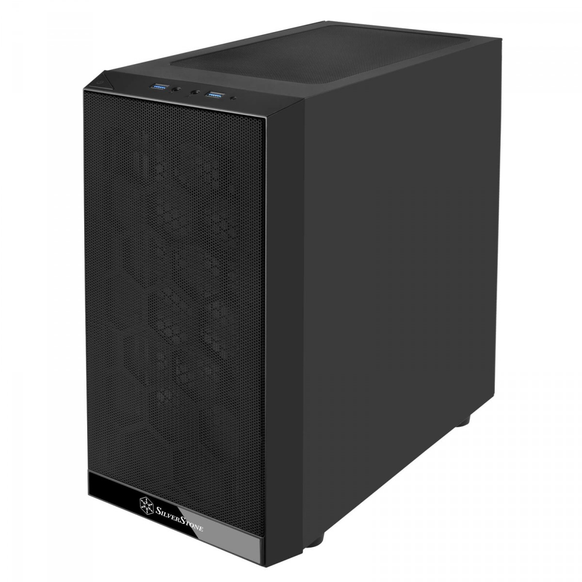 Gabinete Gamer SilverStone PS15 Pro, Mini Tower, Vidro Temperado, Black, Sem fonte, Com 3 Fans, SST-PS15B-PRO