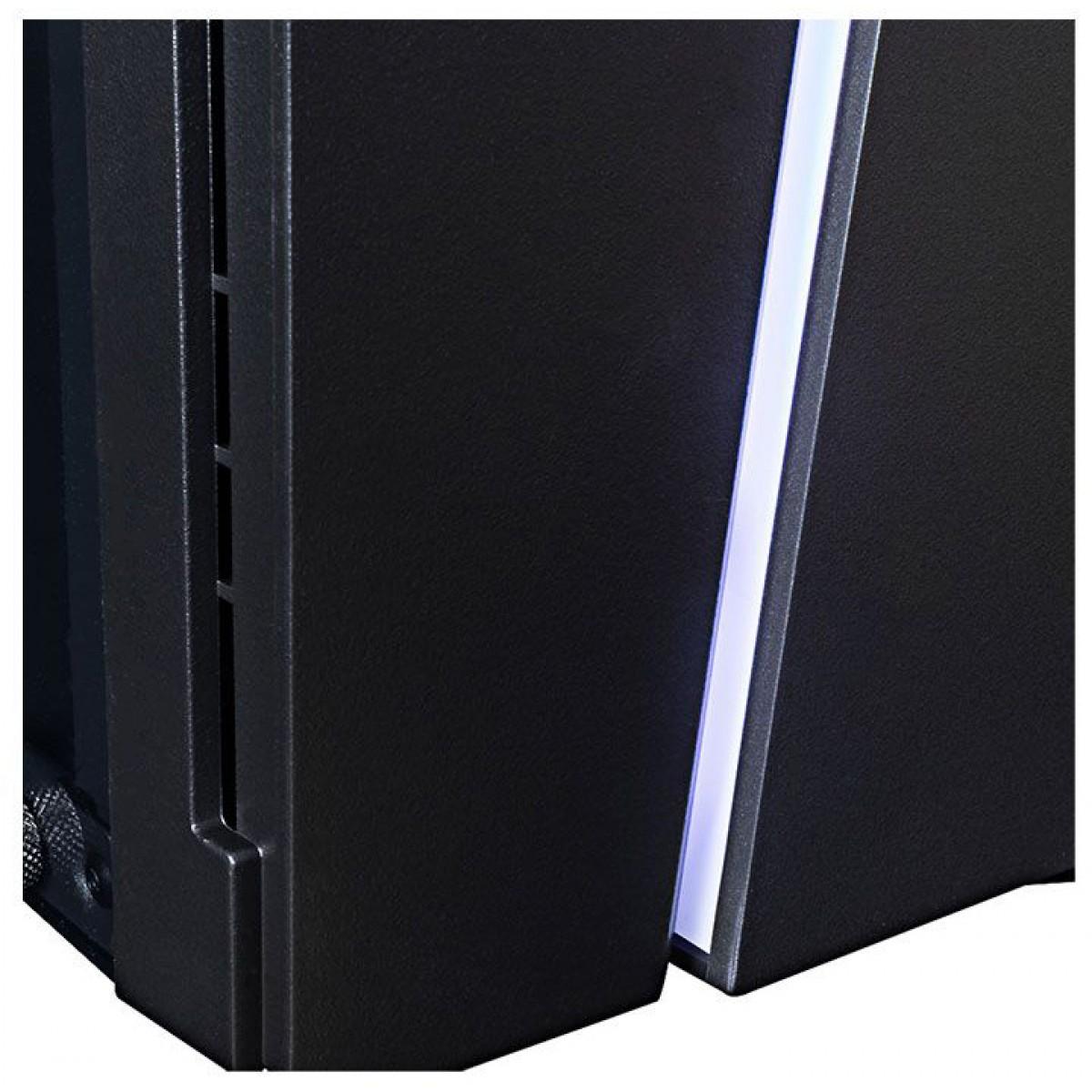 Gabinete Gamer T-Dagger Jax RGB, Mid Tower, Lateral Acrílico, Black, Sem fonte, Sem Fan