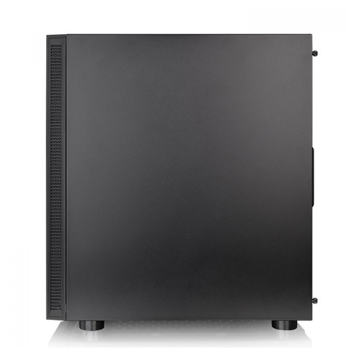 Gabinete Gamer Thermaltake H200 TG RGB, Mid Tower, Vidro Temperado, Black, Sem Fonte, CA-1M3-00M1WN-00