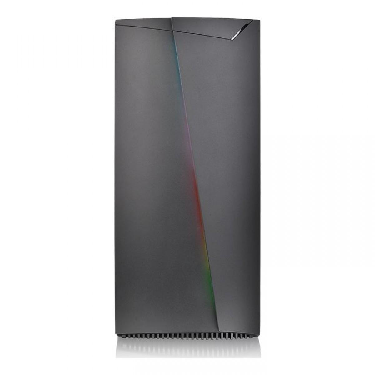 Gabinete Gamer Thermaltake H350 TG RGB, Mid Tower, Vidro Temperado, Black, ATX, Sem Fonte, Com 1 Fan, CA-1R9-00M1WN-00