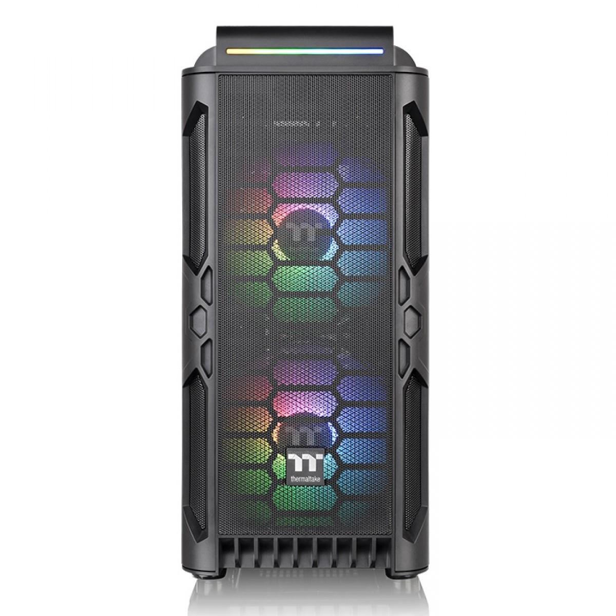 Gabinete Gamer Thermaltake Level 20 RS, ARGB, Midtower, 2 Vidros Temperados, Black, Sem Fonte, Com 3 Fans, CA-1P8-00M1WN-00