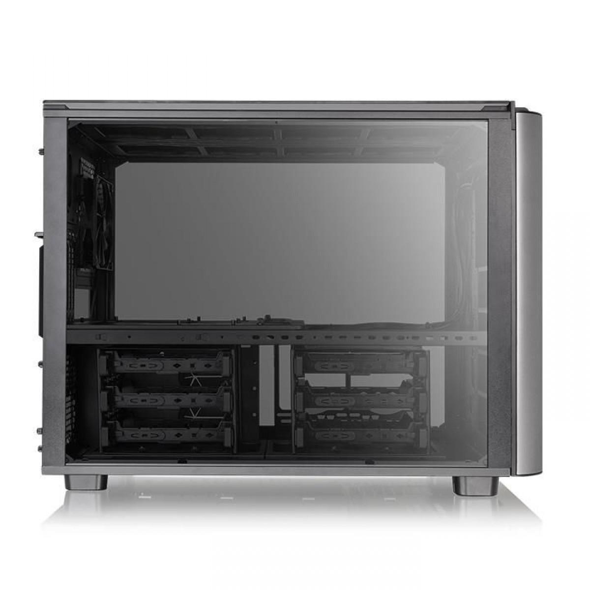 Gabinete Gamer Thermaltake Level 20 XT, E-ATX Cube Case, 4 Vidros Temperados, Black, Com 1 Fan, Sem Fonte, CA-1L1-00F1WN-00