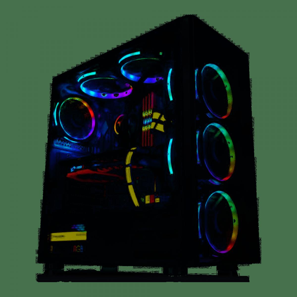 Gabinete Gamer Thermaltake V200, Mid Tower, Sem Fan, Vidro temperado, Black, Sem Fonte, CA-3K8-50M1WZ-01