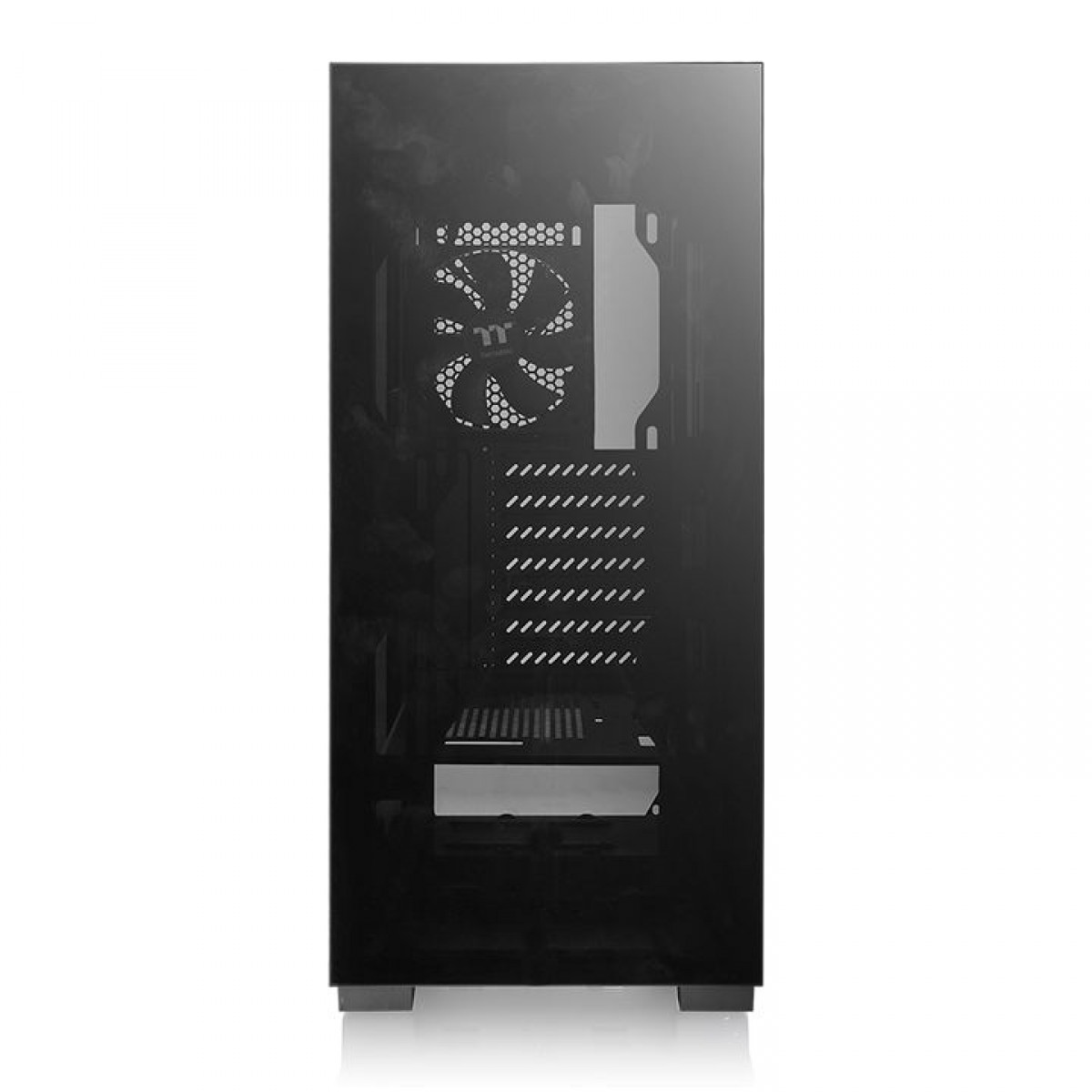 Gabinete Gamer Thermaltake Versa T25, Mid Tower, Vidro Temperado, Black, ATX, Sem Fonte, Com 1 Fan, CA-1R5-00M1WN-00