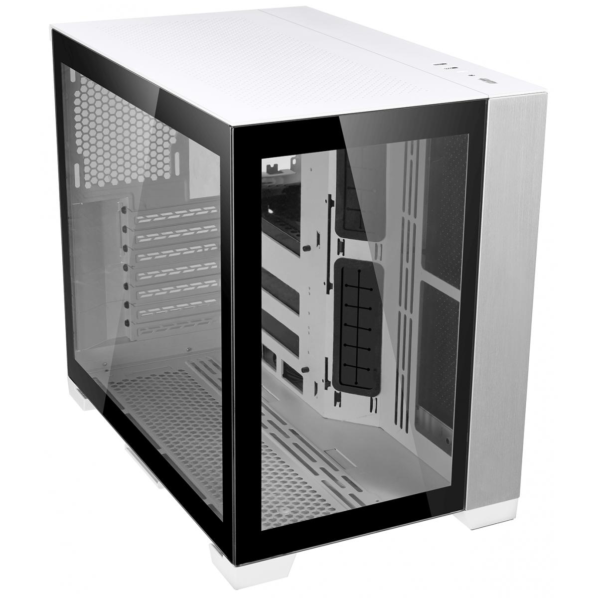 Gabinete Lian Li Dynamic Mini, Mini Tower, Vidro Temperado, White, ATX, Sem Fonte, Sem Fans, O11D MINI-W