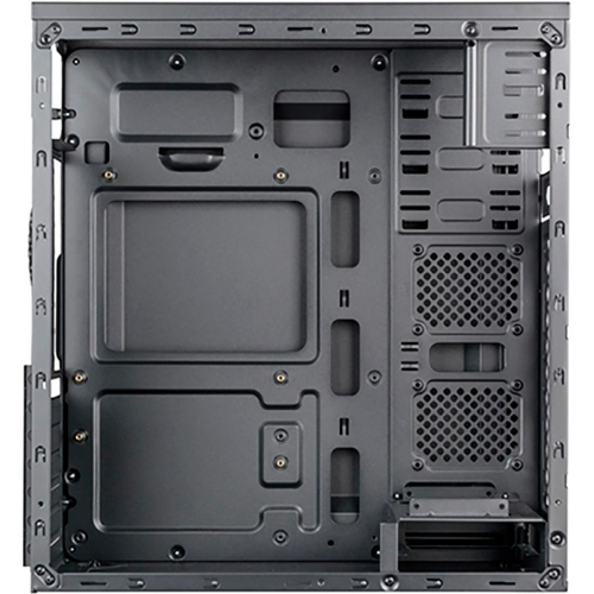 Gabinete Gamer Mymax Dragon Mid Tower, Black-Green, S-fonte, MCA-FC-F75/GR
