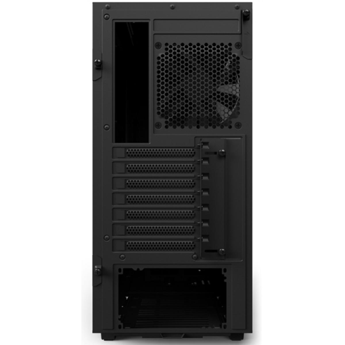 Gabinete Gamer NZXT H500, Mid Tower, Com 2 Fans, Vidro Temperado, Black, Sem Fonte, CA-H500B-B1