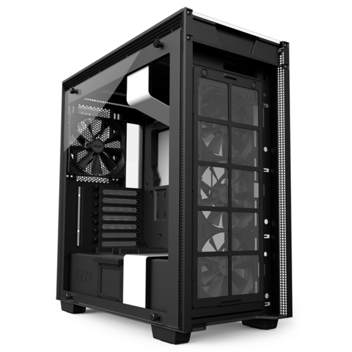 Gabinete Gamer NZXT H700, Mid Tower, Com 4 Fans, Vidro Temperado, White, Sem Fonte, CA-H700B-W1