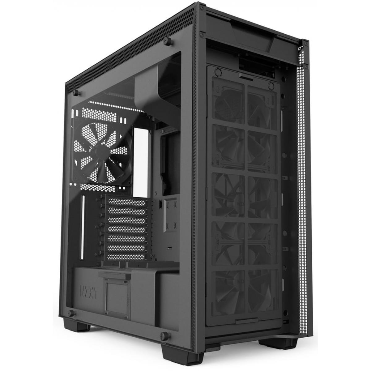 Gabinete Gamer NZXT H700i, Mid Tower, Com 4 Fans, Vidro Temperado, Black, Sem Fonte, CA-H700W-BB