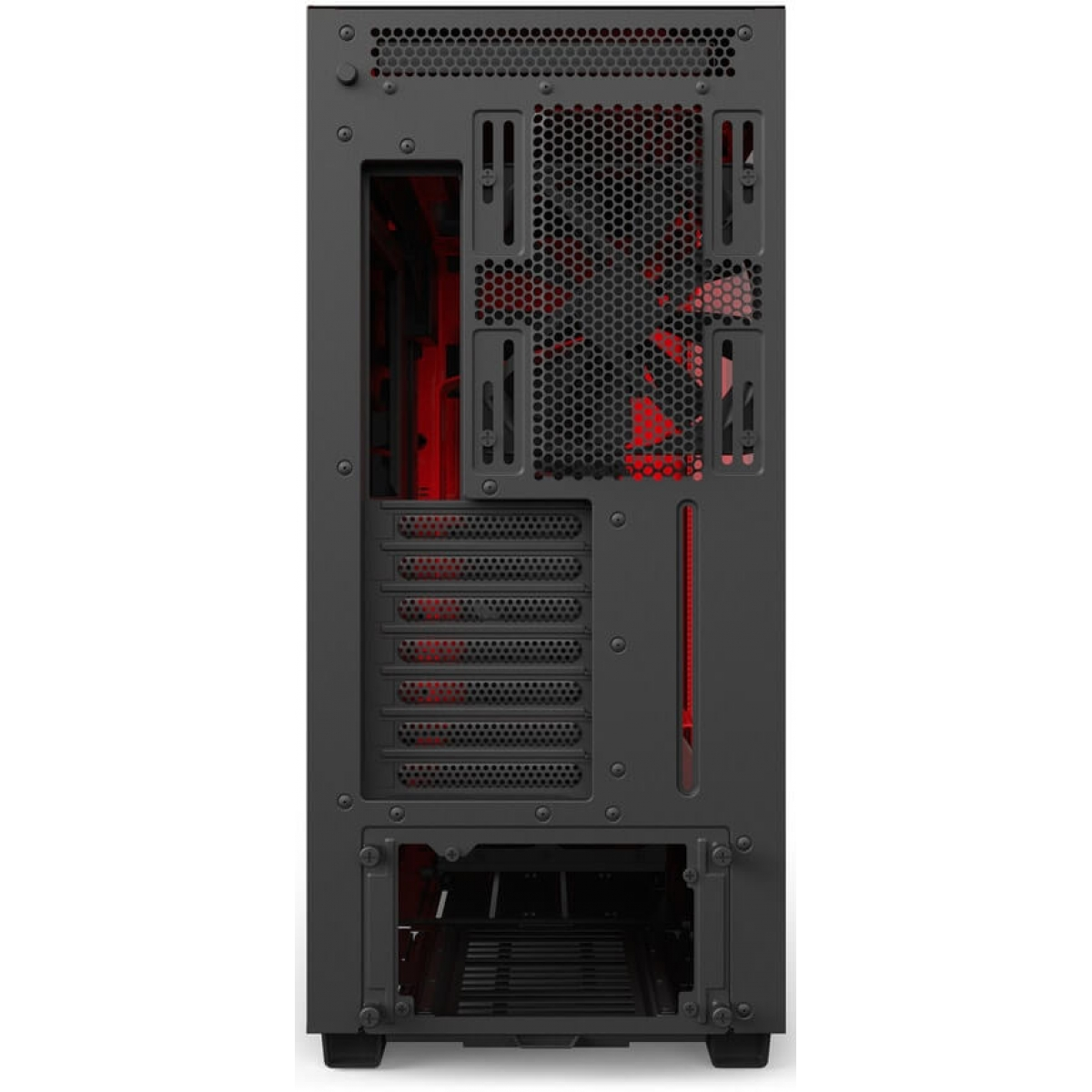 Gabinete Gamer NZXT H700i, Mid Tower, Com 4 Fans, Vidro Temperado, Black-Red, Sem Fonte, CA-H700W-BR