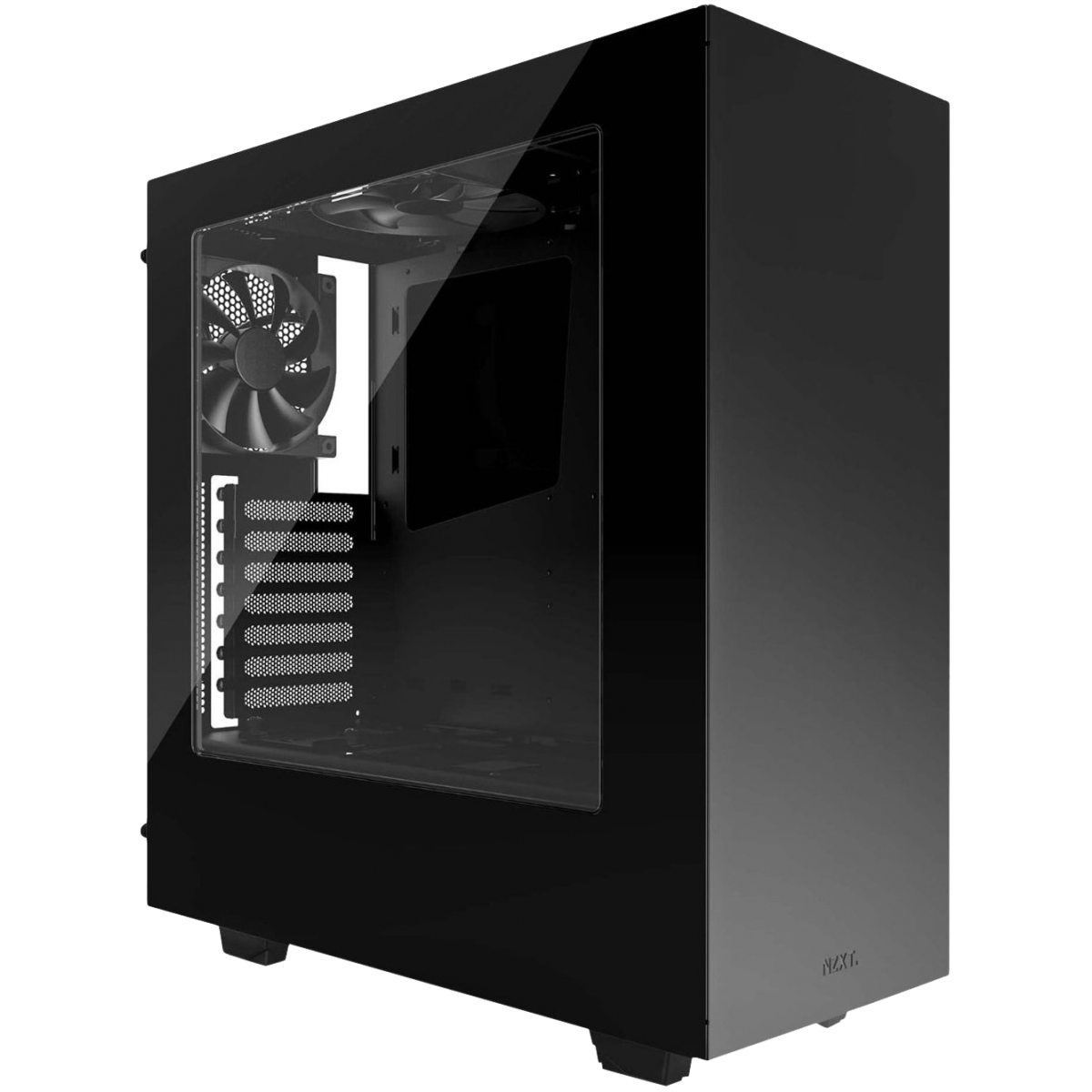 Gabinete Gamer NZXT S340, Mid Tower, Com 2 Fans, Vidro Temperado, Black, Sem Fonte, CA-S340W-B1