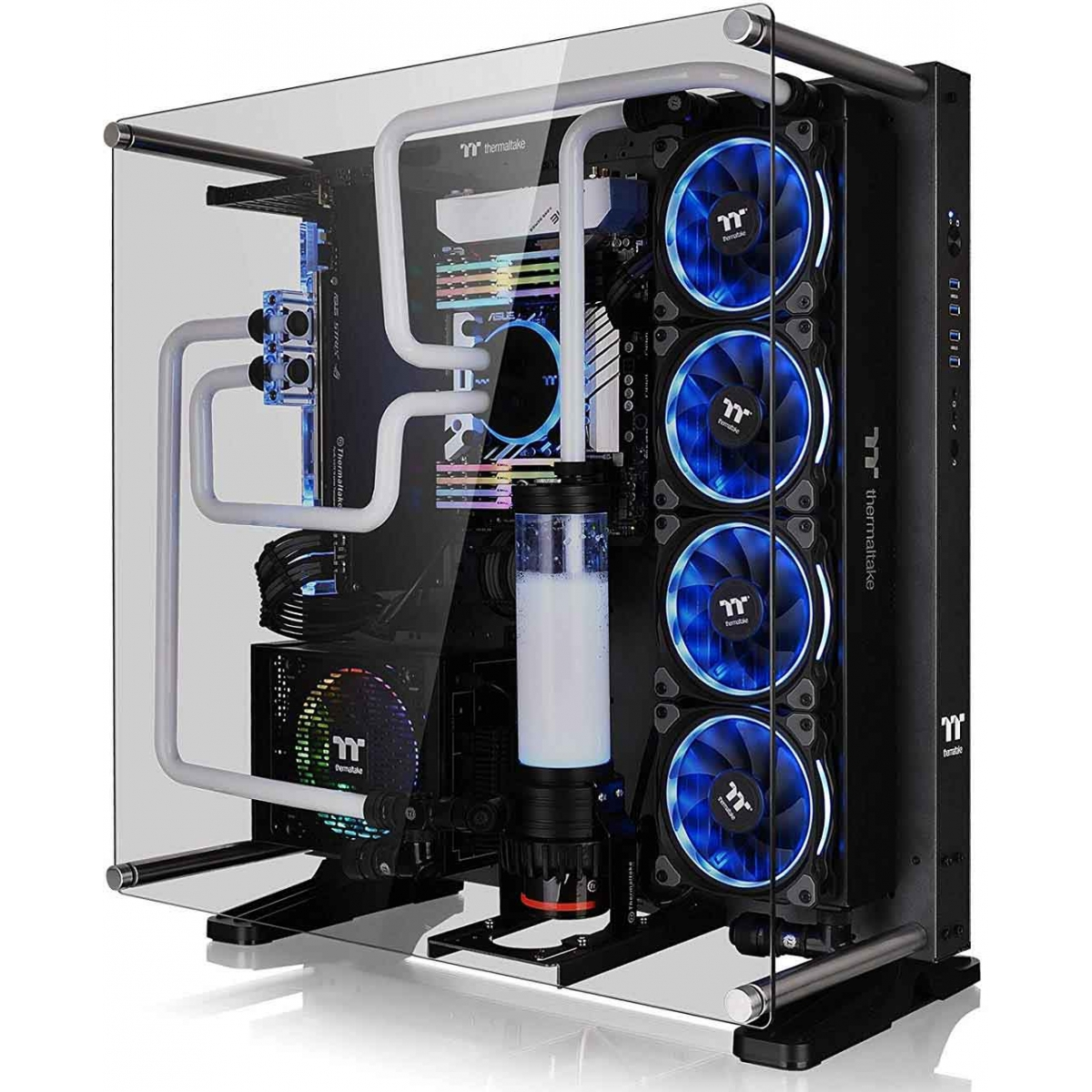 Gabinete Gamer Thermaltake Core P5 TG Titanium Edition, Mid Tower, Vidro Temperado, Black, Sem Fonte, CA-1E7-00M9WN-00