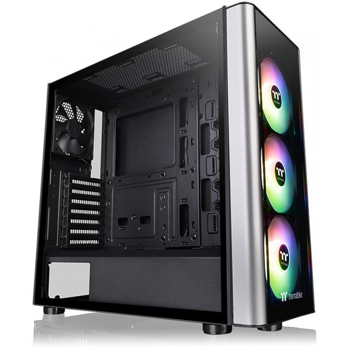 Gabinete Gamer Thermaltake Level 20 MT Argb, Mid Tower, Com 4 Fans, Vidro Temperado, Black, Sem Fonte, CA-1M7-00M1WN-00
