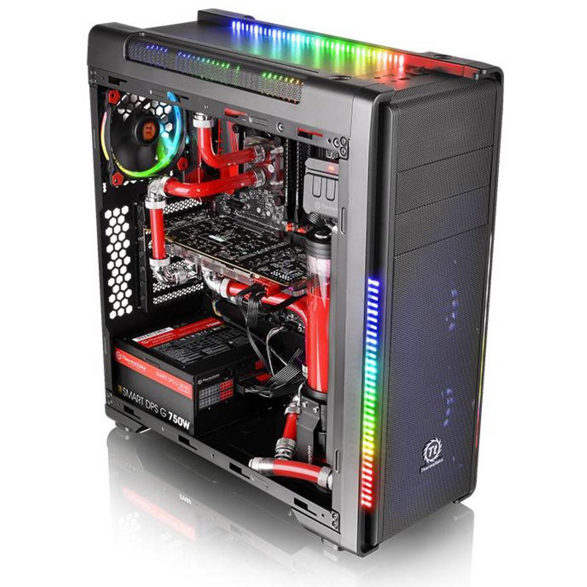 Gabinete Gamer Thermaltake Versa C21 RGB, Mid Tower, Com 1 Fan, Black, Sem Fonte, CA-1G8-00M1WN-00