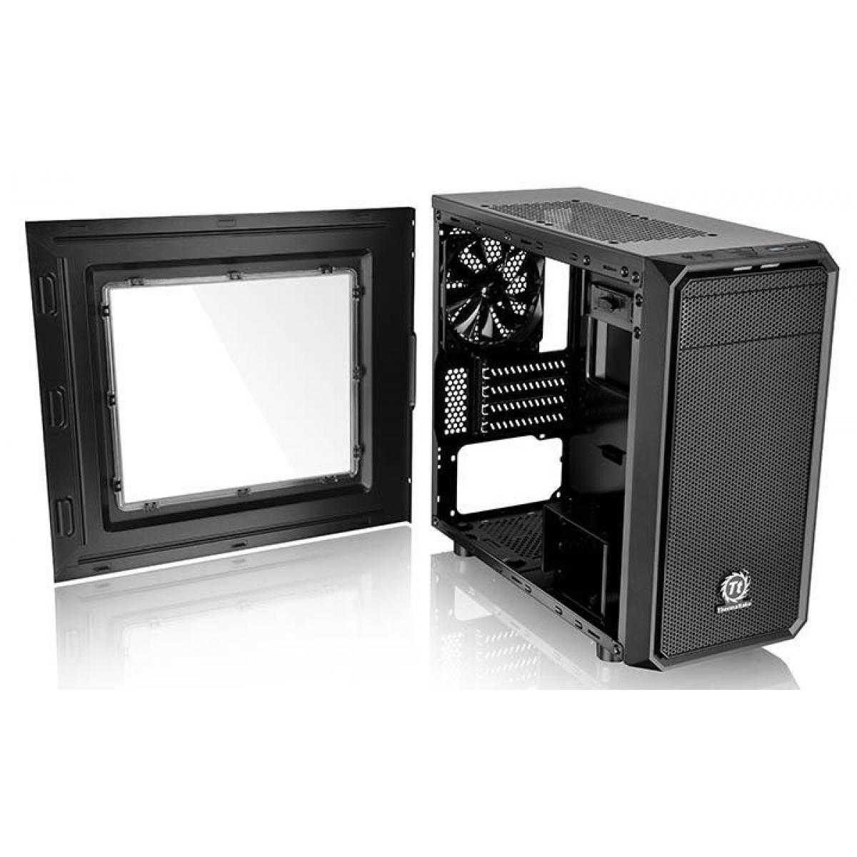 Gabinete Gamer Thermaltake Versa H15, Mini Tower, Com 1 Fan, Black, S-Fonte, CA-1D4-00S1WN-00