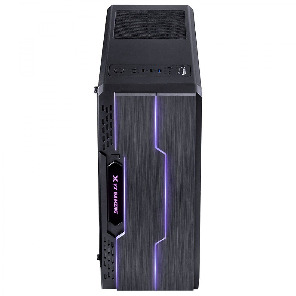 Gabinete Vinik Gamer VX Tron 27779 Full Window Fumê Mid Tower Preto LED 7 Cores S/Fonte