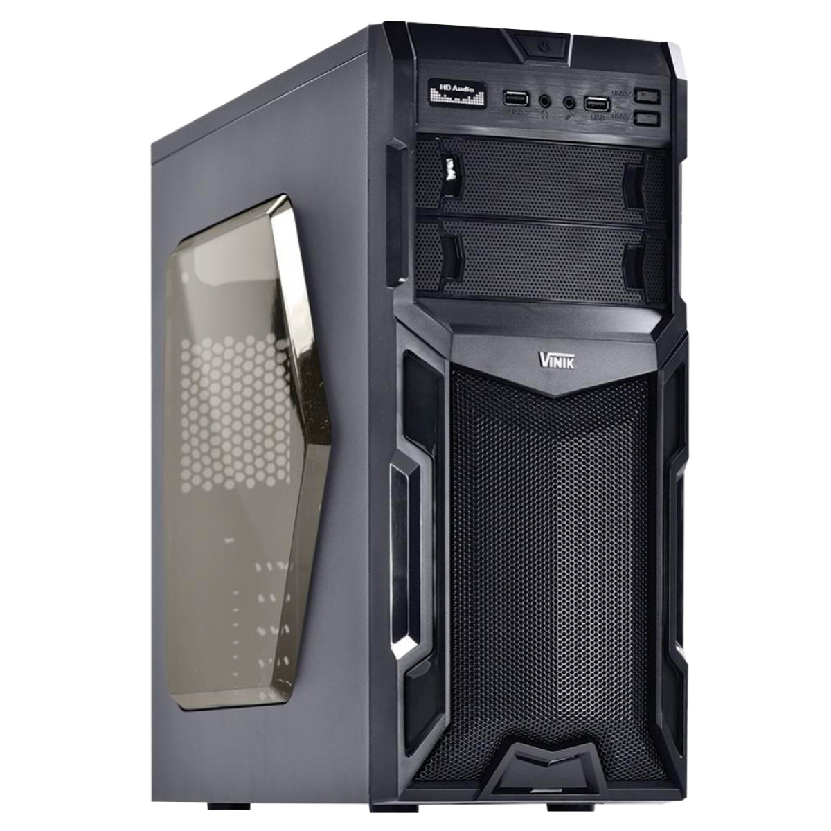 Gabinete Gamer Vinik VX Typhoon Window, Mid Tower, Black, S-Fonte