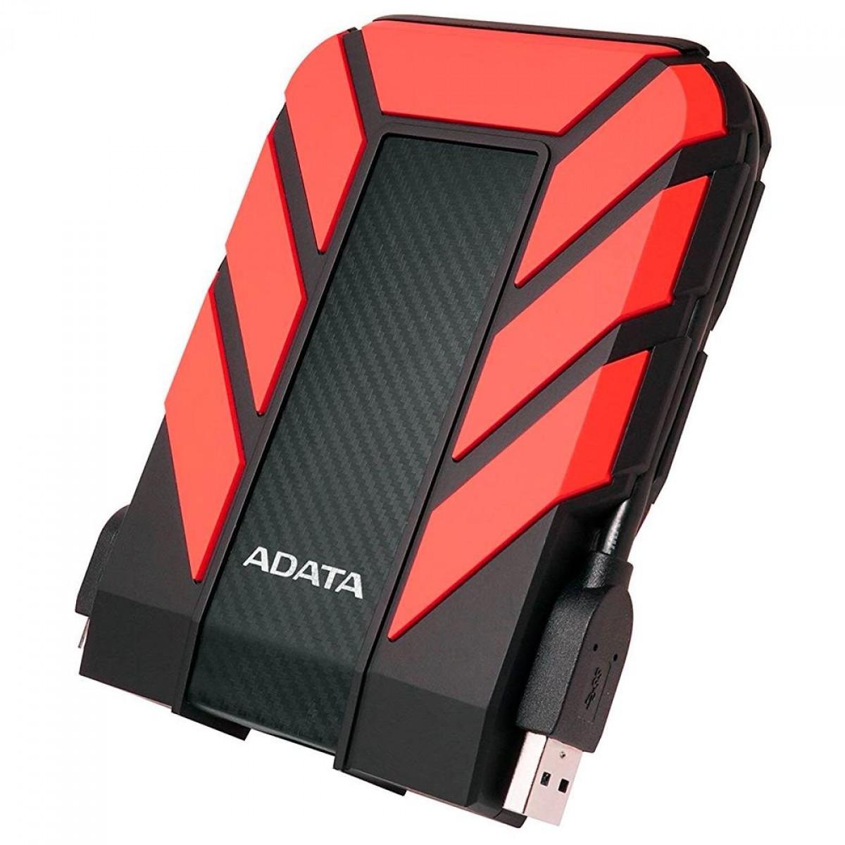 HD Externo Portátil Adata HD710 Pro 2TB, USB 3.2, Red, AHD710P-2TU31-CRD