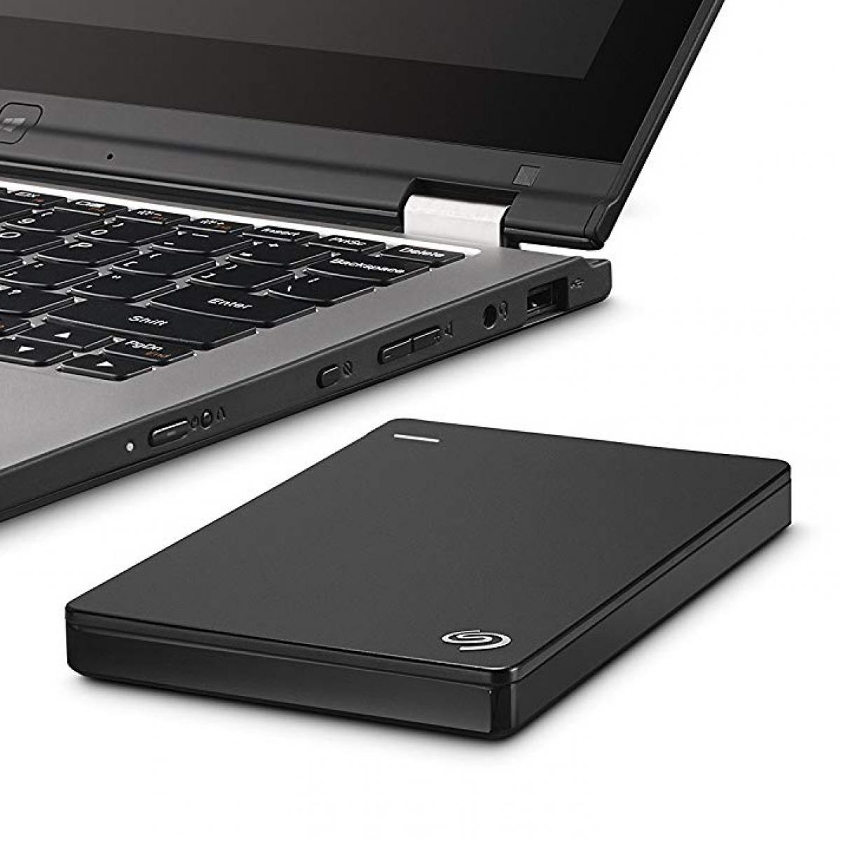 HD Externo Portátil Seagate Backup Plus SLim, 1TB, USB 3.0 Preto, STDR1000100