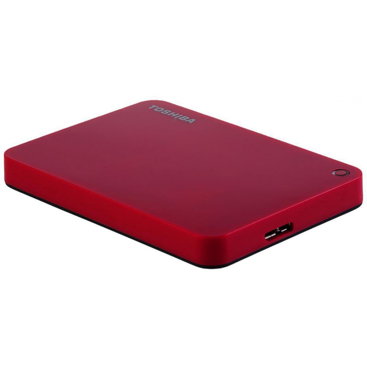 HD Externo Portátil Toshiba Canvio Advance 1TB HDTC910XR3AA USB 3.0 Vermelho