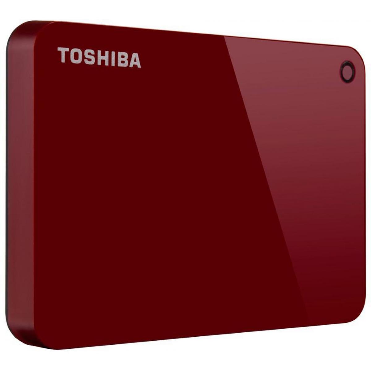 HD Externo Portátil Toshiba Canvio Advance 3TB HDTC930XR3CA USB 3.0 Vermelho
