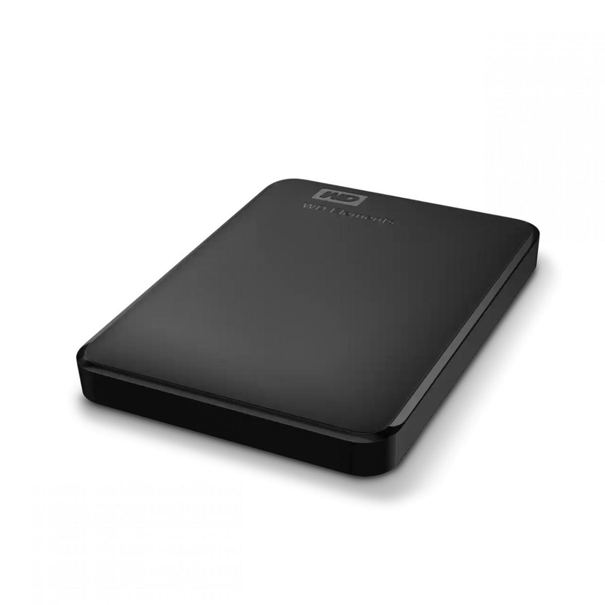 HD Externo WD Elements Portable 2TB, USB 3.0, Black, WDBU6Y0020BBK