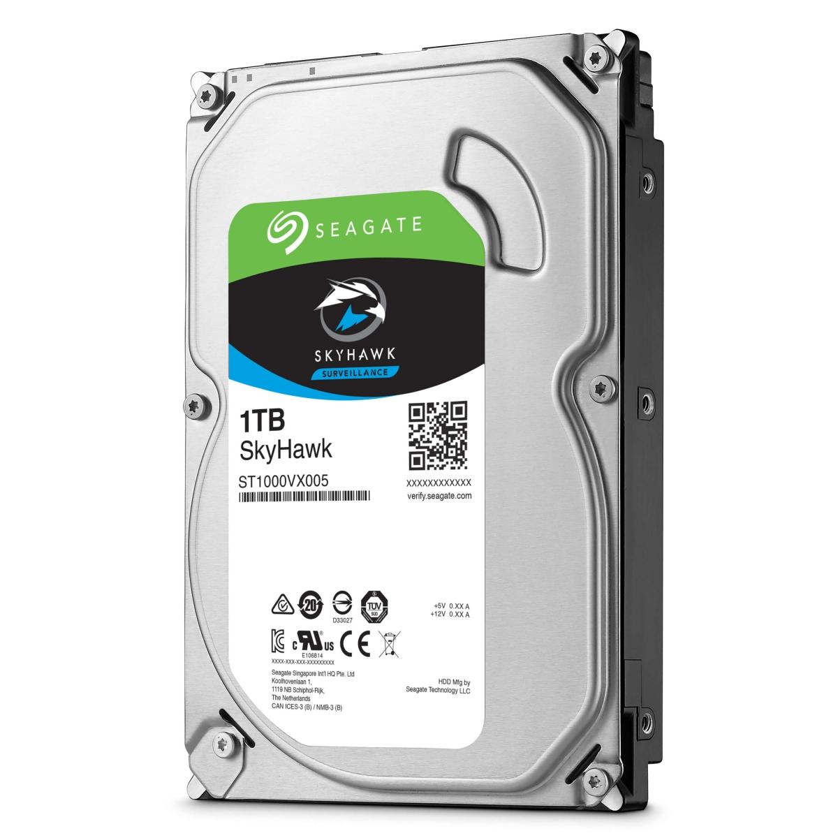 """HD Seagate SkyHawk Surveillance ST1000VX005 1TB SATA6 5400RPM 64MB 3.5"""""""