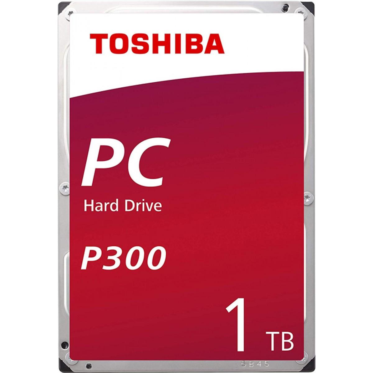 "HD Toshiba P300 1TB, 3.5"" Sata III, 7200RPM, 64MB, HDWD110UZSVA"